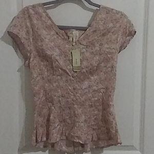 blouse Japna pink floriada size s